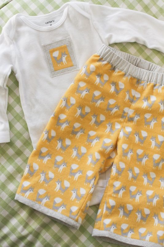 lounging in fanfare (baby pajama set) - probably actually (uses an Oliver + S pattern)