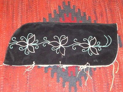 Vintage Native American Indian Black Floral Beaded Papoose Baby Carrier