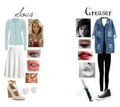 greaser girl outfit polyvore - Google Search