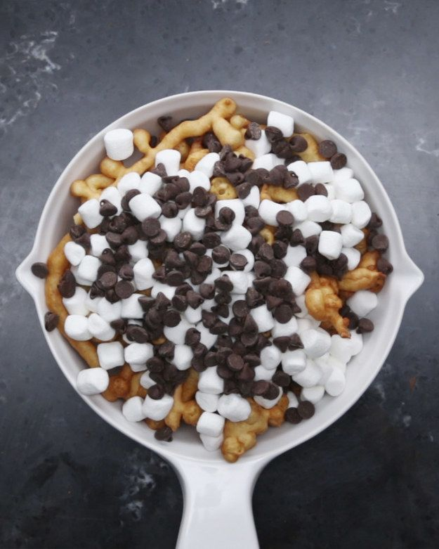 S'more Funnel Cake Fries | This Recipe For S'more Funnel Cake Fries Is Total Fair Nostalgia