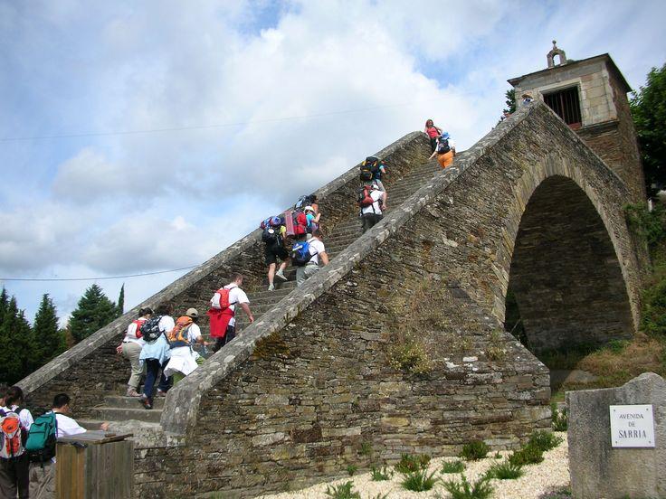 "Puente ""Ponte Novo"", Portomarín, Galicia, Camino de Santiago"