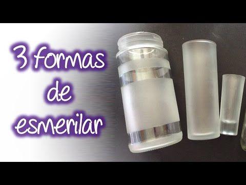 3 formas fáciles de esmerilado en cristal , Easy frosted glass - YouTube