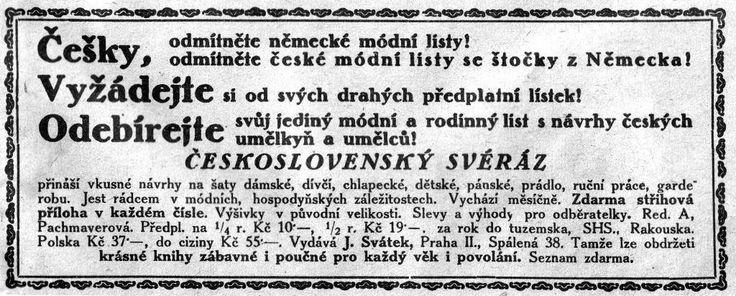 Češky, odmítněte německé módní listy! Odmítněte české módní listy se štočky z Německa!