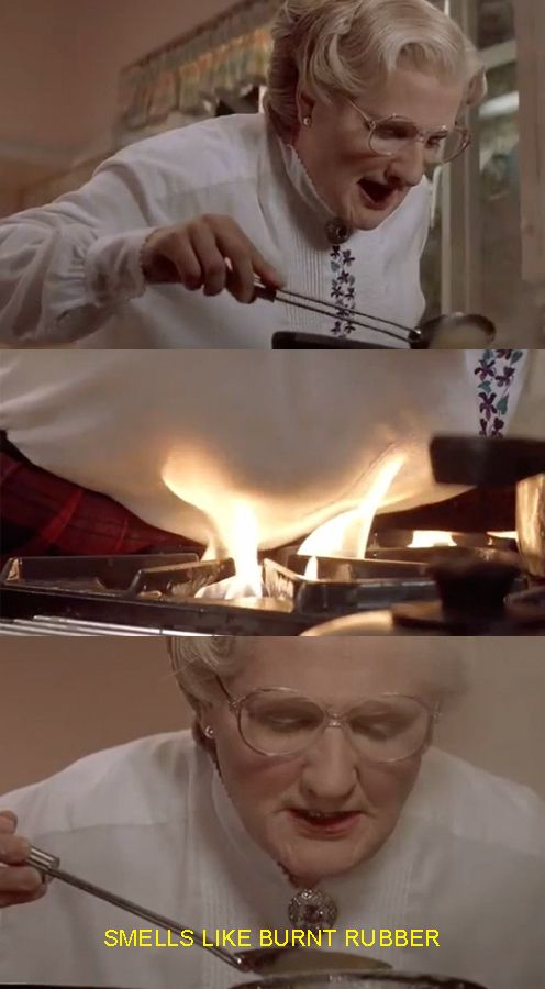 """So Mrs. Doubtfire is free to go on, terrorizing his family, setting their kitchen on fire… 