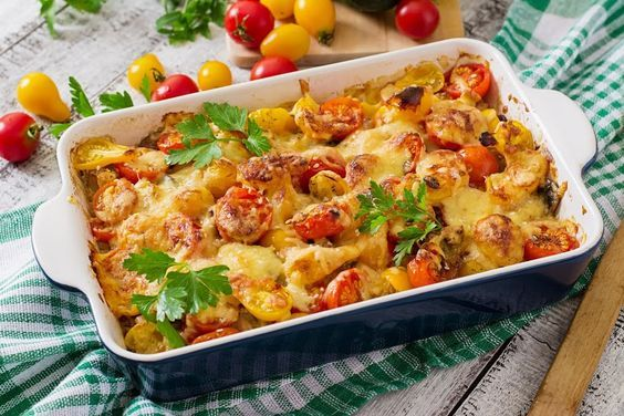 Bring out the taste of your favorite vegetables with this yummy and versatile casserole that combines zucchini, tomatoes, and mushrooms for either a hearty side dish or a terrific vegetarian entree. Throw in a little cheddar cheese to add some protein in the mix, and ensure a fresh dish by including veggies picked at the peak of ripeness from your own garden or local farmer's market. It's perfect to serve with a warm bowl of soup and some crunchy French bread on a cold fall day, or to pair…