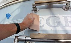 Removing and Applying Vinyl Lettering - Sail Magazine