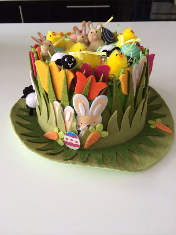 Easter hat idea for parade at Liam's school.