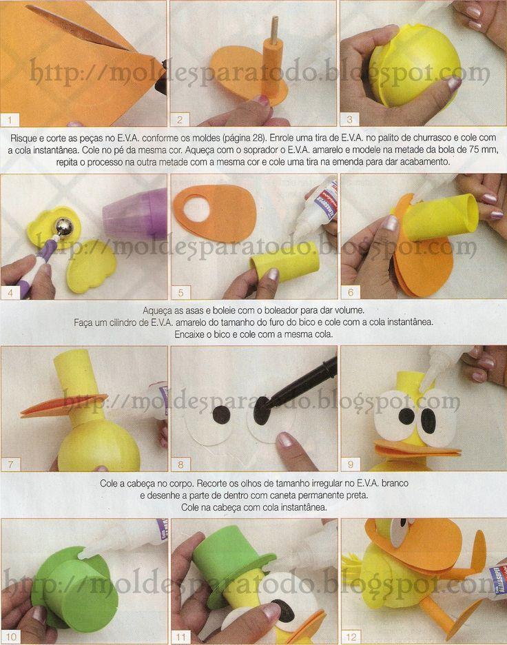 Moldes para Todo: * Fofucho Pato de Pocoyo *