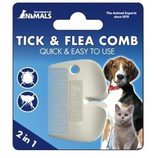 COANIMALS Tick & Flea Combノミとダニの両方を取り除ける ノミダニ取りクシ病気を媒介し死者を出した、話題のマダニ対策にもおすすめ!もちろん人間にも使えます。素人が手で取…