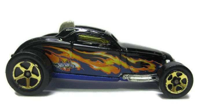Year  2000 Hot Wheels Diecast Toy Car Mattel Sooo Fast Sports Black Flames 1:64 #HotWheels