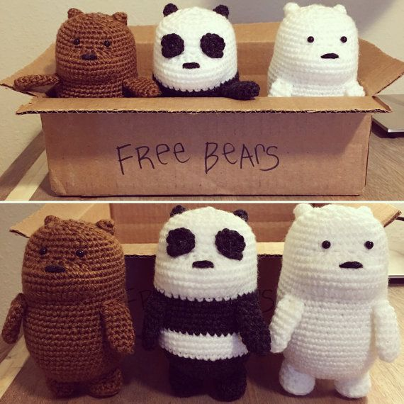 CROCHET PATTERN: We Bare Bears Inspired Baby by NorthwestStitch