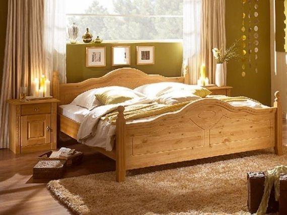 Rustikální manželská postel borovice Wasel