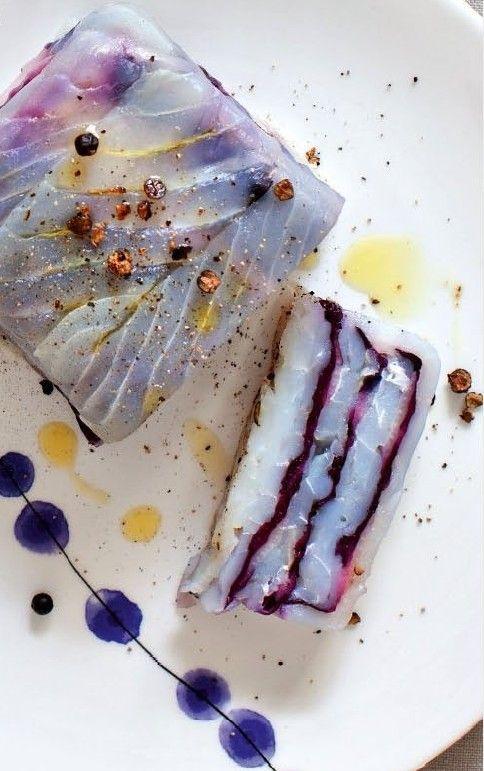 terrina di baccalà al radicchio/bowl of salt cod with radicchio