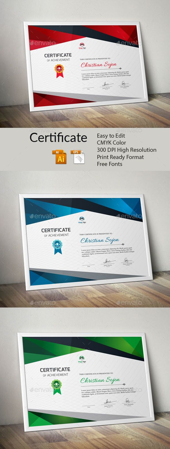 #Certificate - Certificates #Stationery Download here: https://graphicriver.net/item/certificate/19715702?ref=alena994