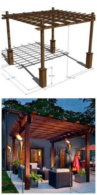 How To Build Your Own Pergola, 4 DIY Ideas and Tutorials | Handy & Homemade
