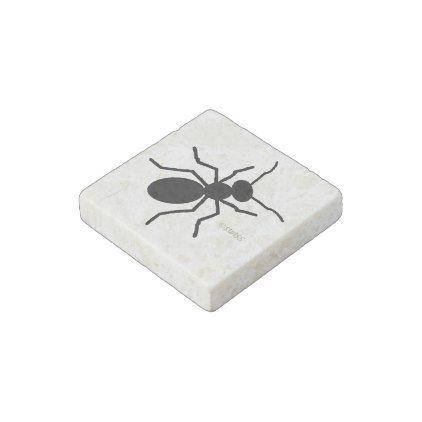 Crawling Big Black Ant Stone Magnet - humor funny fun humour humorous gift idea