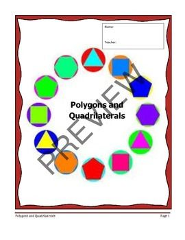 Geometry Unit 5 Notetaking Guide Polygons Quadrilaterals