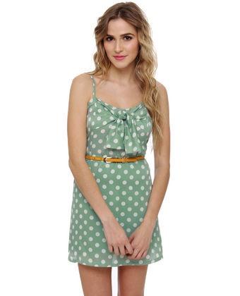 Polka Dots!!!!: Summer Dresses, Polka Dots Dresses, Polkadot, Bridesmaid Dresses, Com Pigtails, Polka Dot Dresses, The Dresses, Green Polka, Mint Green Dresses