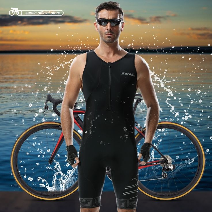 37.73$  Watch here - http://ali15s.shopchina.info/1/go.php?t=32639806439 - Santic Triathlon Clothing 4D Pad Quick Dry Cycling Skinsuit for Swimming Running Cycling M5C03007H  #buyonlinewebsite