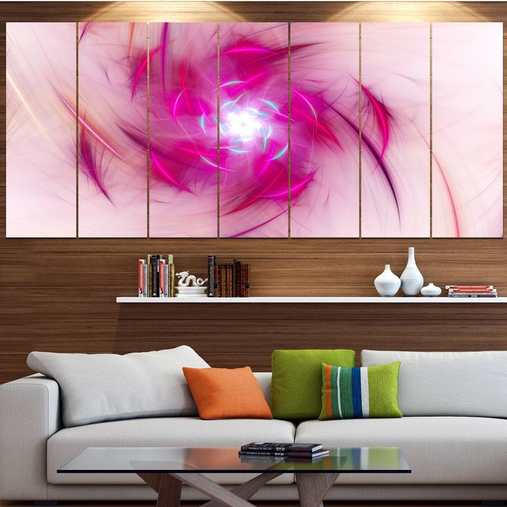 DESIGN ART Designart 'Purple Fractal Nuclear Reaction' Modern Floral Artwork