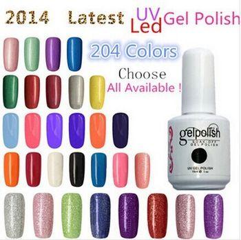 Gel Polish Choose 6 Pieces In New 204 colors UV Gel Polish 15ml 0.5oz Nail Gel