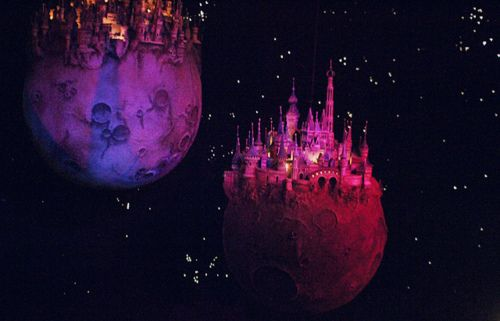 "The Castle planets scene from ""Droomvlucht"" in Efteling. I love the haunting score by Ruud Bos for this ride!"