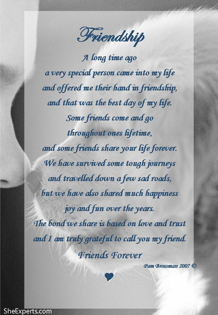 25+ best ideas about Friendship Poems on Pinterest | Deep ...