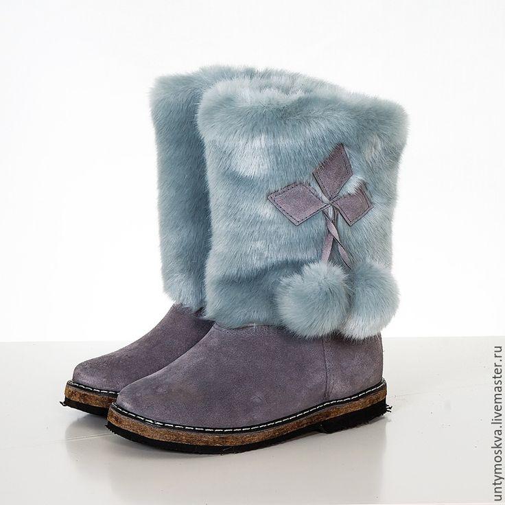 Купить Унты женские ( войлочная подошва ) уж26 - разноцветный, Унты, зимняя обувь