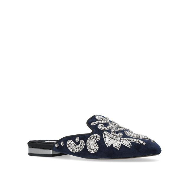 Carvela embroidered slippers