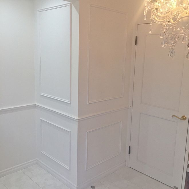 部屋全体 モールディング フレンチシック クラシック プリンセス部屋