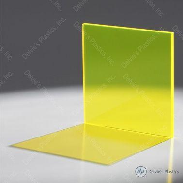 Fluorescent Cast Acrylic (Plexiglass) Sheet