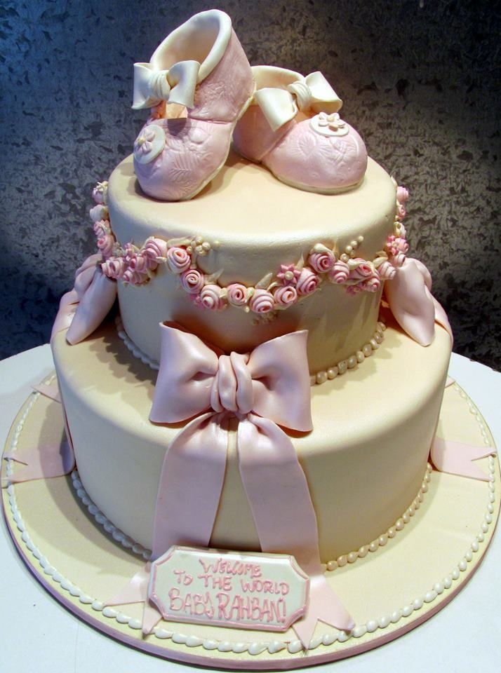 Baby Shoes Baby Shower Cake By Rosebud