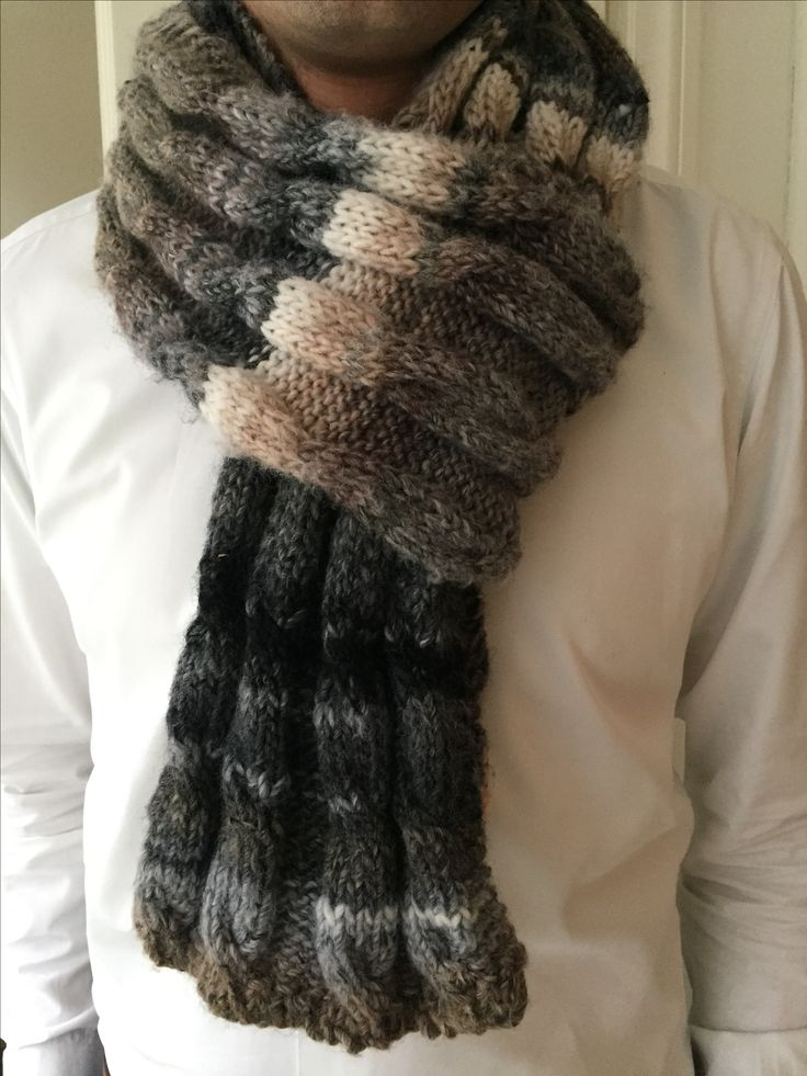 DIY - knitted shawl Azteca wol Kl. 7856