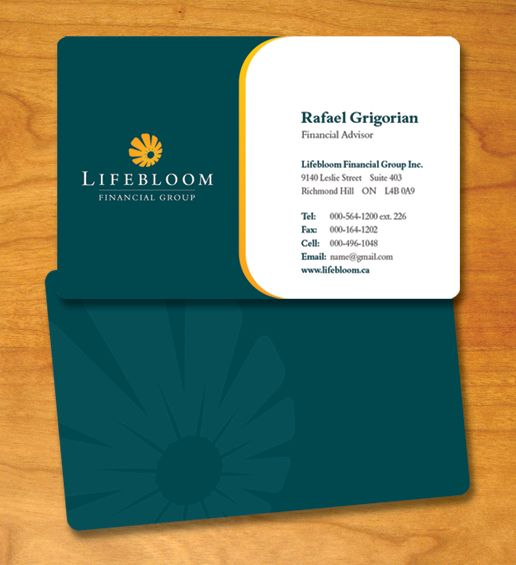 professional business card design | Lifebloom, Toronto - Logo Design
