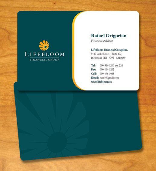 professional business card design | Lifebloom, Toronto - Logo Design