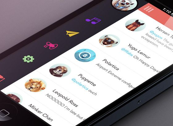 Vertical Navigation Implementation of Side Menu in Mobile Apps