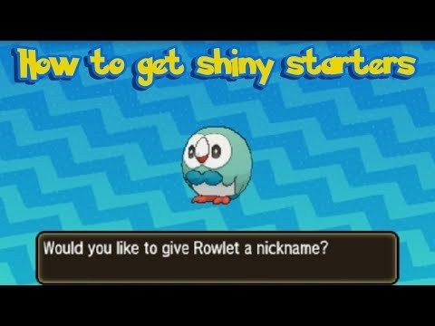 How to get Shiny Starter Pokémon in Pokemon Ultra Sun and
