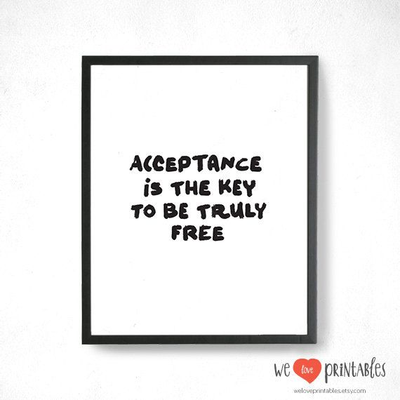"Katy Perry lyrics ""Acceptance is the key to be truly free"" print. #inspirational #katyperry #walldecor"