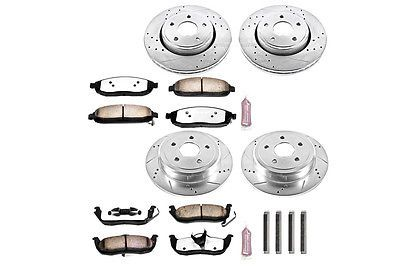 Disc Brake Pad and Rotor Kit Front Rear fits 05-10 Jeep Grand Cherokee
