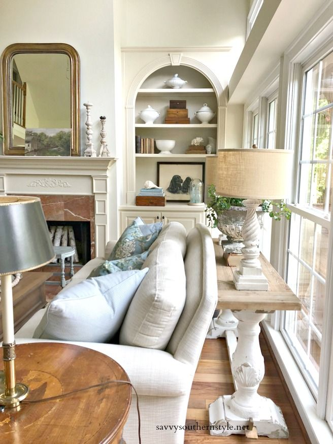 Simple Summer Style In The Great Room French Country Living Room Summer Living Room Farm House Living Room