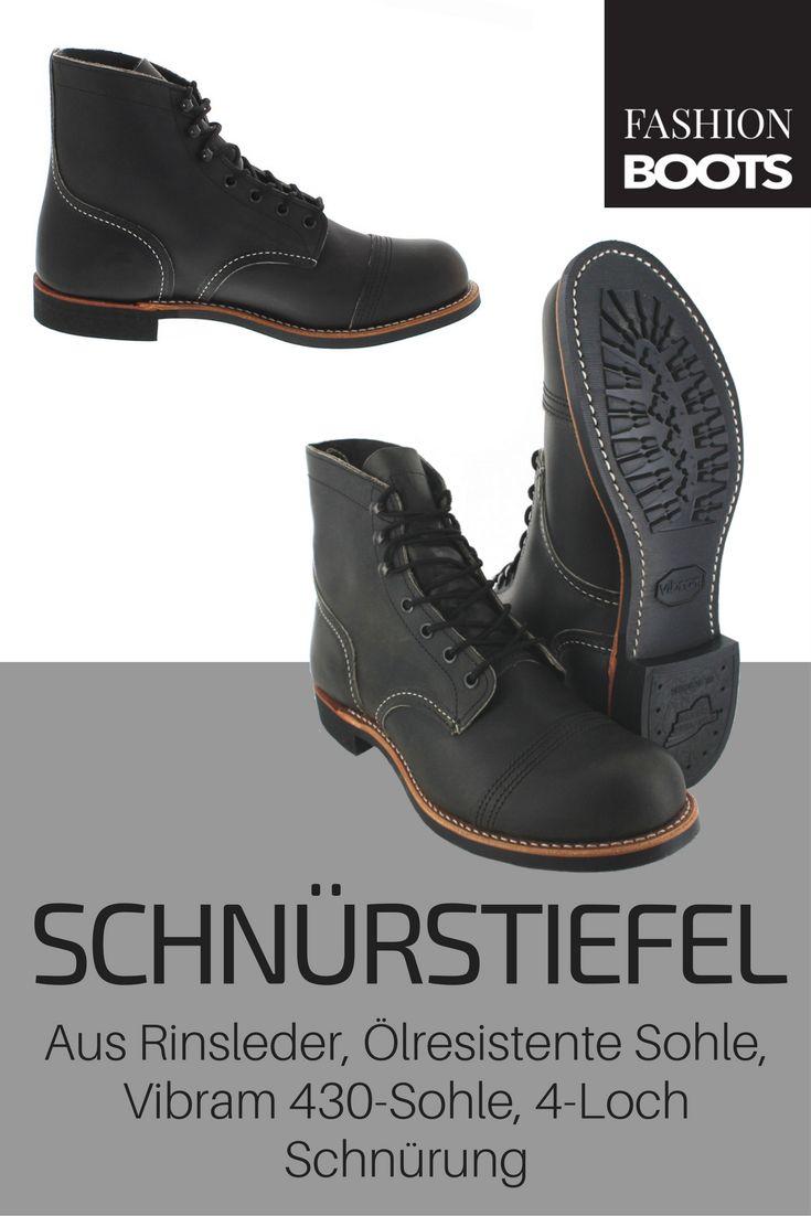 Red Wing Shoes IRON RANGER 8086 Charcoal Schnürstiefel - grau | Klassischer Herren 7-Loch Stiefel aus der HERITAGE WORK IRON RANGER Kolektion