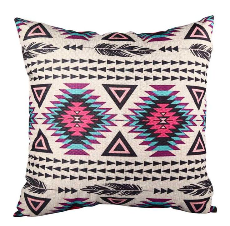 Geometric%20Aztec%20Cushion%20CoverMake%20a%20statement%20with%20our%20geometric%20aztec%20style%20cushion%20cover,%20featuring%20multi%20patterns%20with%20a%20pop%20of%20fuchsia%20and%20blue!-%20Size:%2045cms%20x%2045cms%20-%20Material:%20100%%20Cotton%20(Linen)%20-%20Durable,%20heavy%20texture%20and%20comfortable%20feel%20-%20Concealed%20size%20zipper%20-%20Inserts%20are%20not%20included