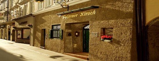 Hotel Goldener Hirsch, Salzburg. This is not to be missed. A magnificent hotel set in the centre of the Town.