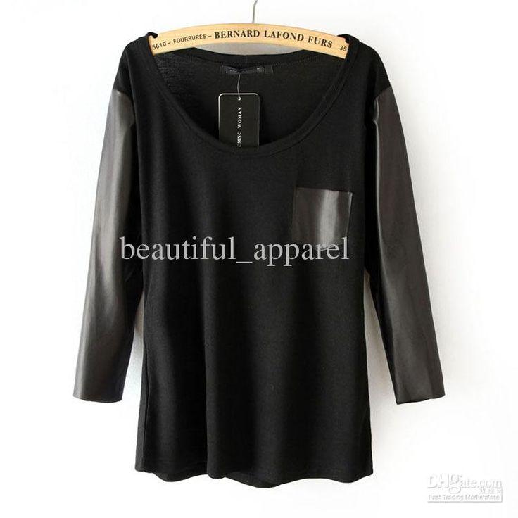 http://image.dhgate.com/albu_310106798_00-1.0x0/fashion-women-v-neck-t-shirt-leather-half.jpg