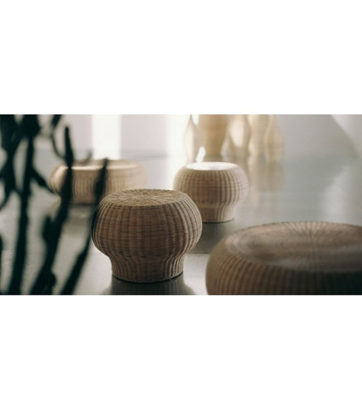 Bolla 15 Is A Coffee Table U0026 Stool Designed By Michael Sodeau For  Gervasoni. Side Table / Ottoman In Natural Melange Rattan Core.