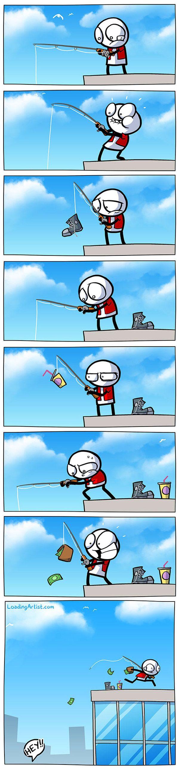 El pescador ladrón
