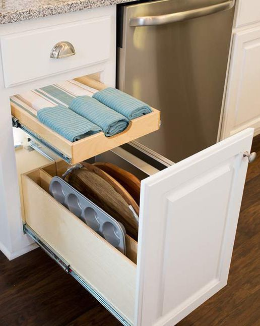 Tray Drawer Organizer Tray Organizing Drawer By ShelfGenie Serving Trays,  Baking Sheets, And Other