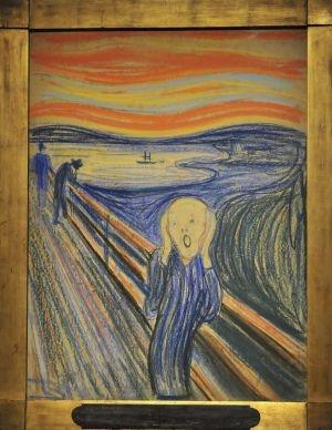'El grito' de Evard Munch. / JASON SZENES (EFE)  178  Twittear157  Enviar  Compartir  Enviar Imprimir    La única versión de El grito de Edvard Munch en manos privadas, un dibujo preparatorio para la serie de Paul Cézanne Los jugadores de cartas e importantes obras de Mark Rothko, Francis Bacon o Andy Warhol protagonizan desde anoche la temporada de subastas de primavera en Nueva York.
