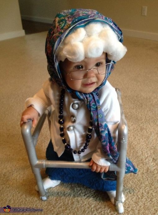 Little Old Granny Baby Costume. Little Girl Halloween ... - Best 25+ Funny Baby Costumes Ideas On Pinterest Baby Costumes