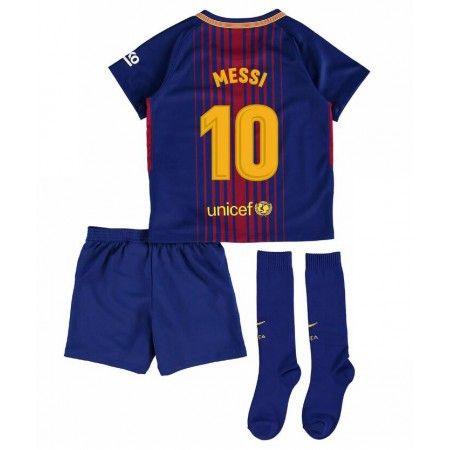 Barcelona Lionel Messi 10 Hjemmebanesæt Børn 17-18 Kort ærmer